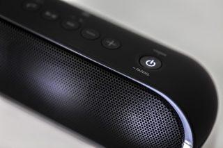 Bluetooth speaker close-up