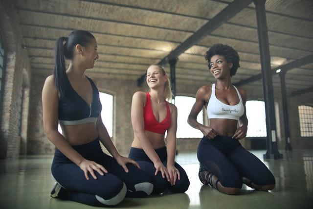 sportieve vrouwtjes